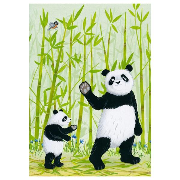 DJUNGELSKOG libro El increíble viaje de Panda 32 piezas 22.2 cm 31.4 cm