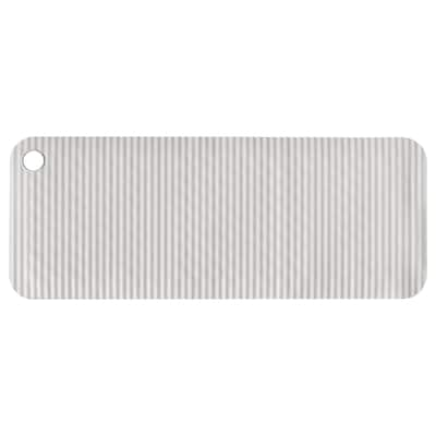 DOPPA Alfombrilla para bañera, gris claro, 33x84 cm