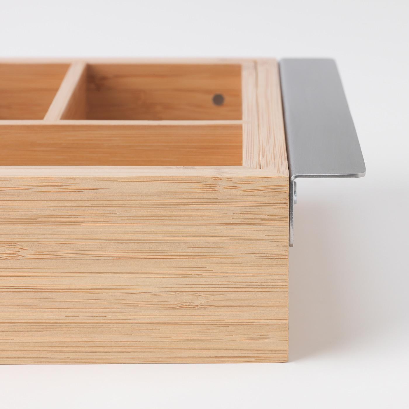 DRAGAN Caja extensible bambú 35 51x21 cm