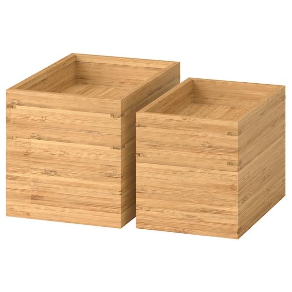 DRAGAN Juego de baño, 4 unidades, bambú
