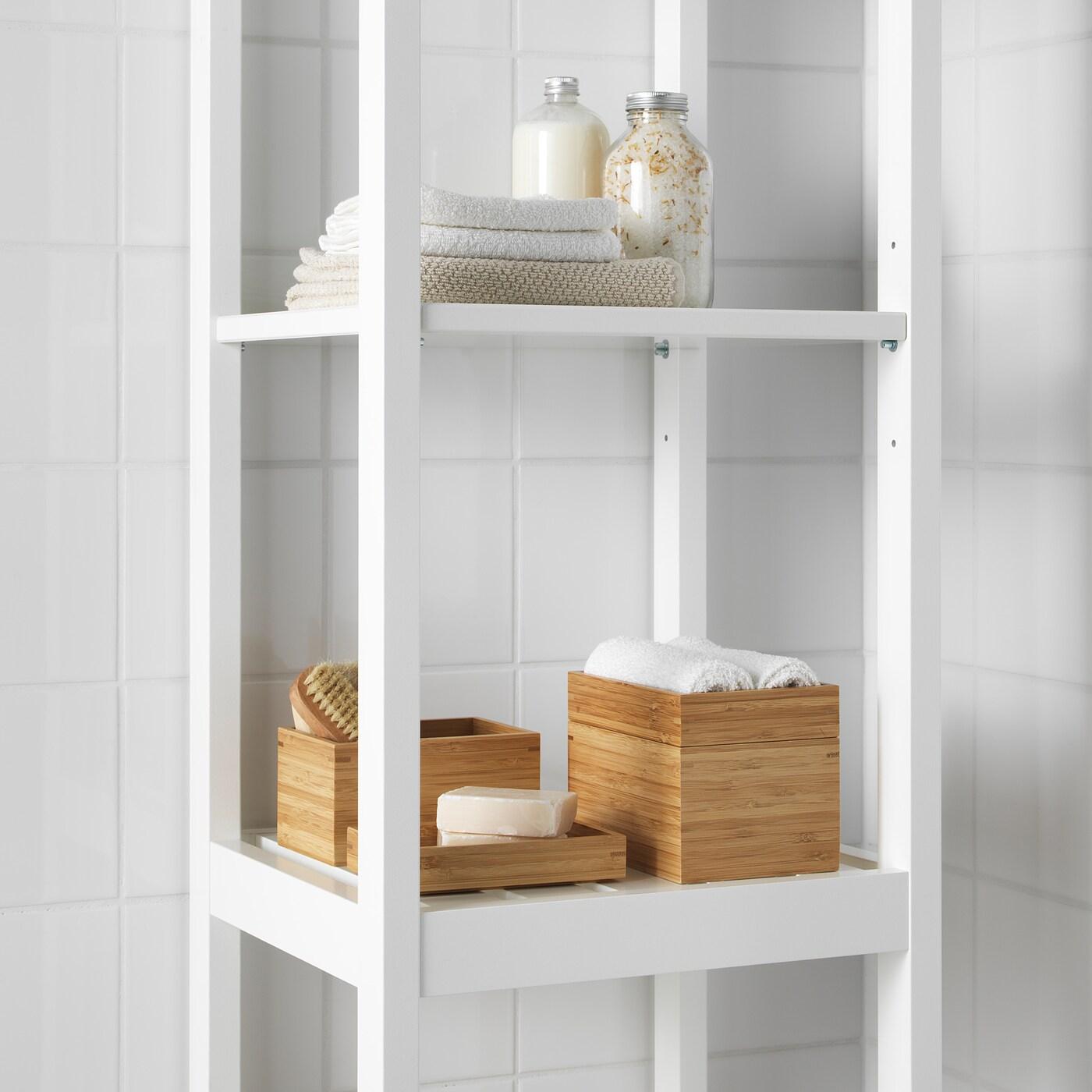 DRAGAN Juego de baño, 4 unidades bambú