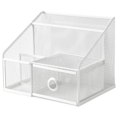 DRÖNJÖNS Organizador escritorio, blanco, 25x20 cm