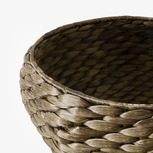 DRUVFLÄDER Macetero, jacinto de agua/gris, 24 cm