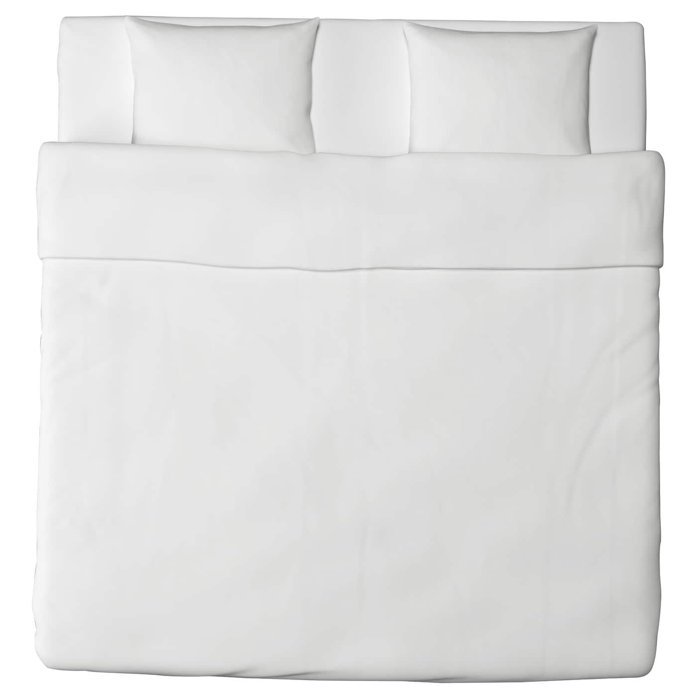DVALA Funda nórd y 2 fundas almohada Blanco 240 x 220/50 x 60 cm