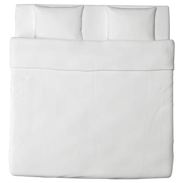 DVALA Funda nórdica +2 fundas almohada, blanco, 240x220/50x60 cm
