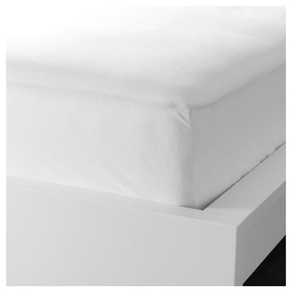 DVALA Sábana bajera ajustable, blanco, 160x200 cm IKEA
