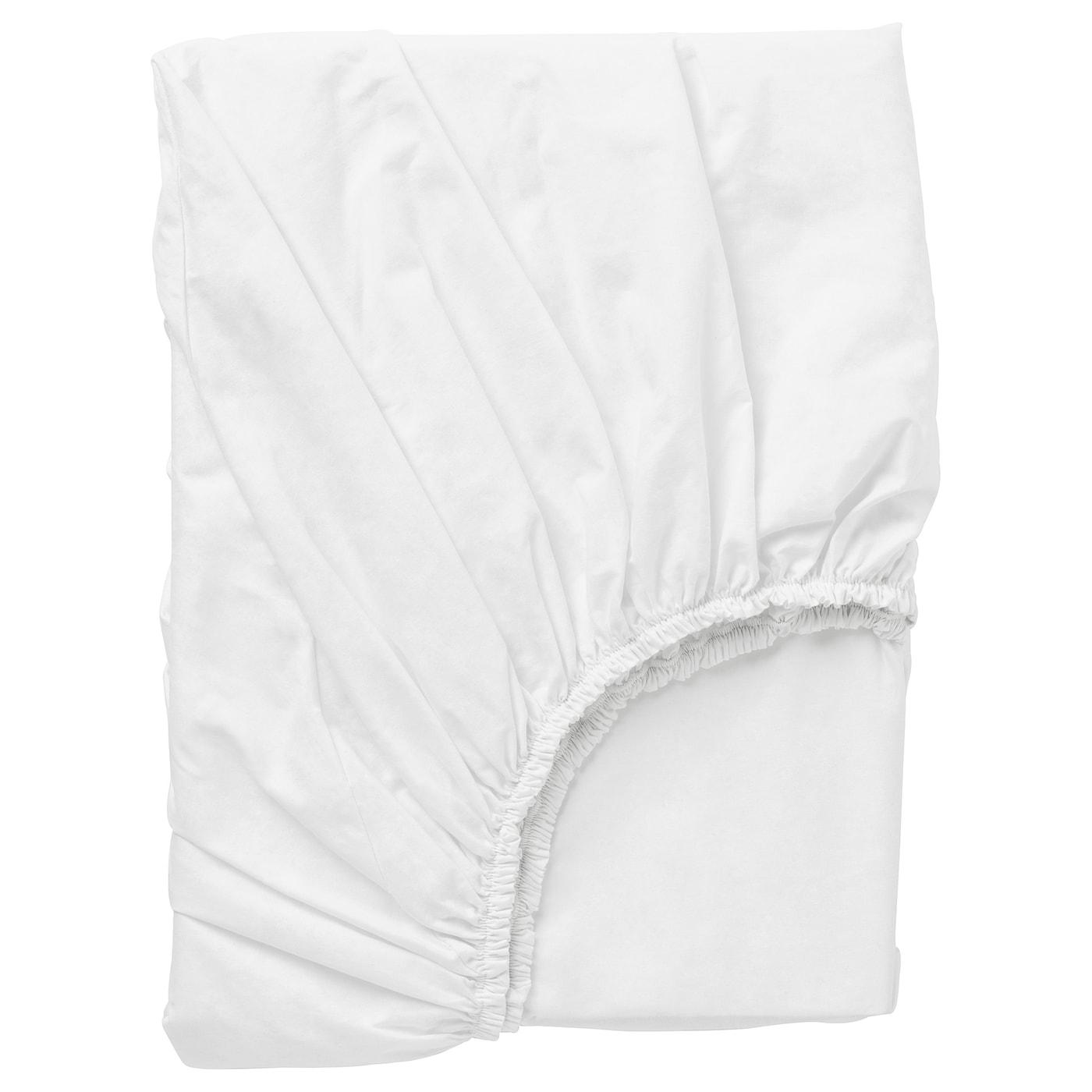 DVALA Sábana bajera ajustable, beige, 180x200 cm IKEA