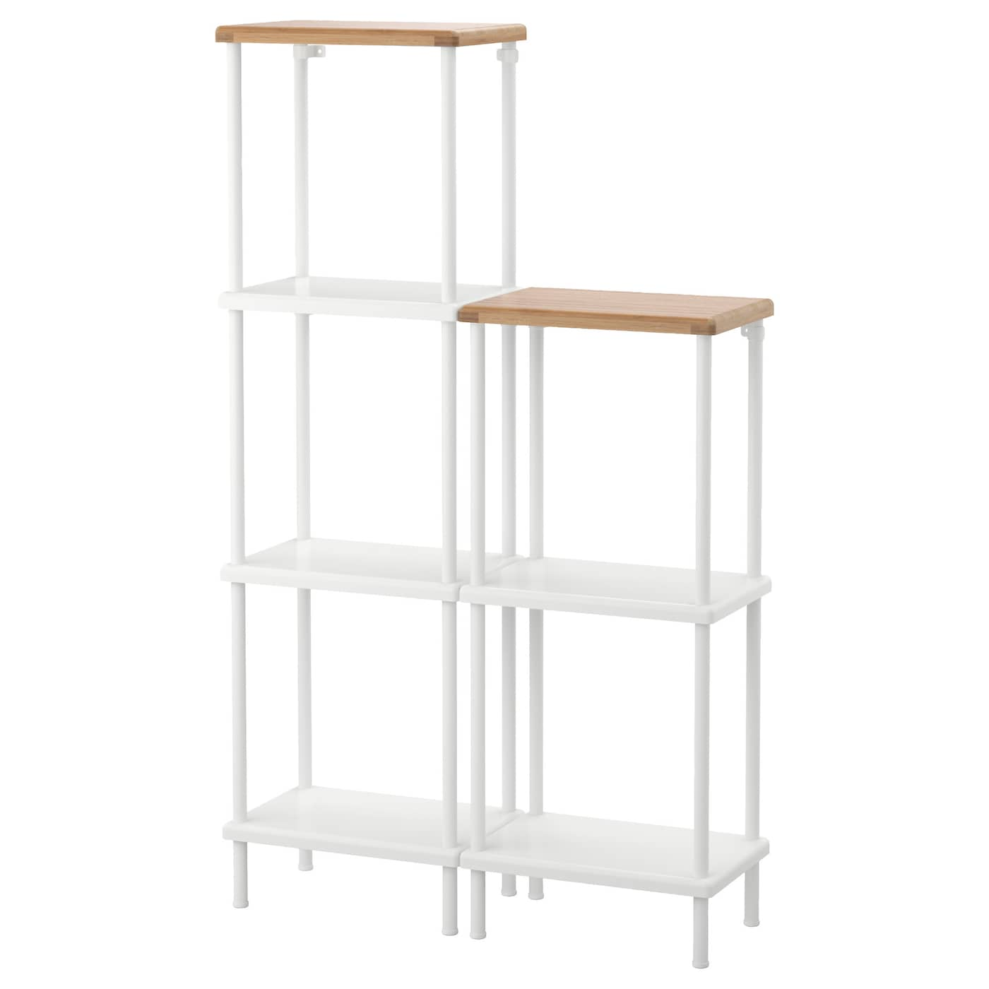 IKEA DYNAN estantería Las patas regulables permiten corregir las  irregularidades del suelo. 0f7ed5a22f47
