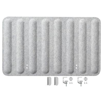 EILIF Pantalla para escritorio, gris, 80x48 cm