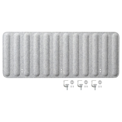 EILIF Pantalla para escritorio, gris, 120x48 cm