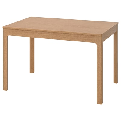 EKEDALEN Mesa extensible, roble, 120/180x80 cm
