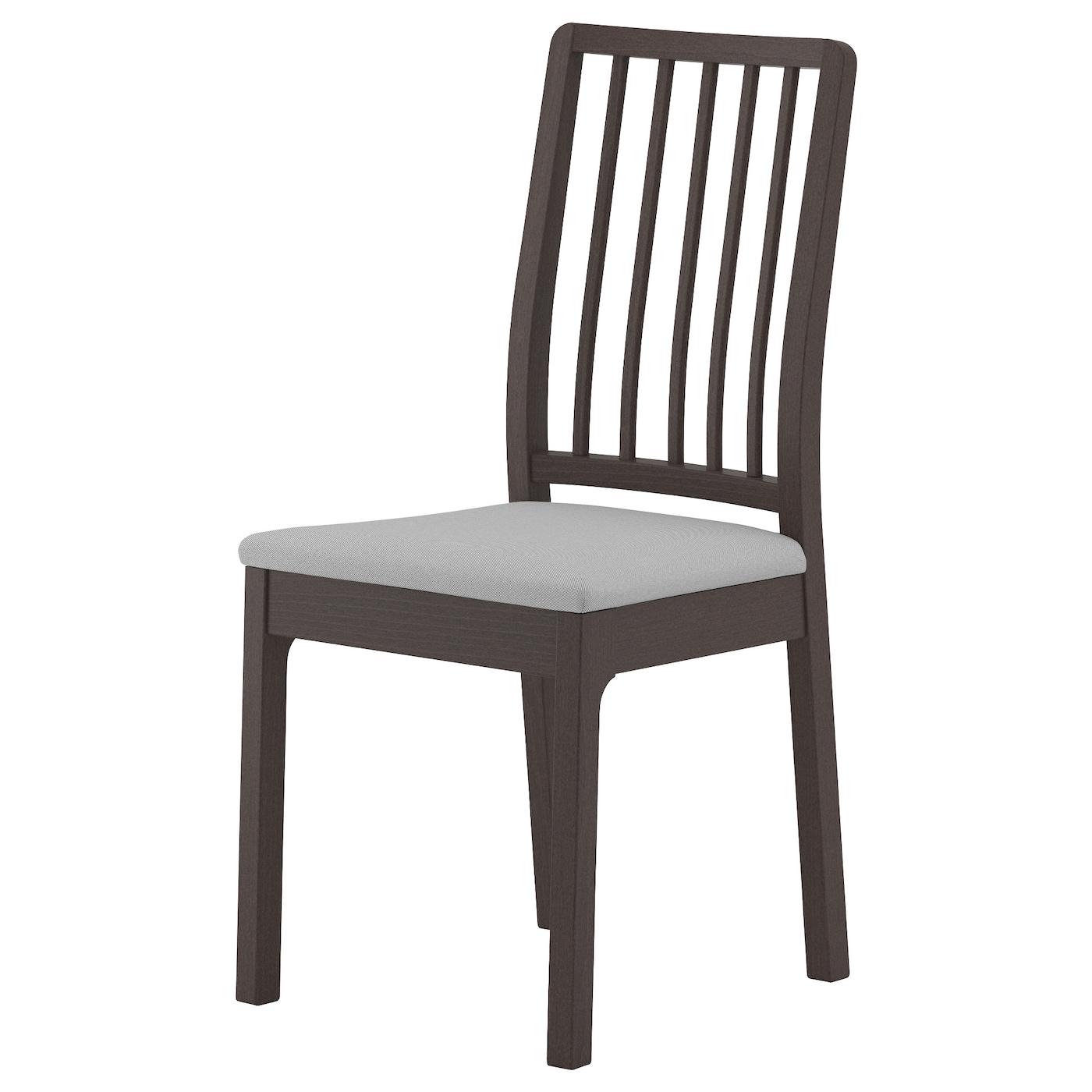Ekedalen silla marr n oscuro orrsta gris claro ikea for Sillas para dormitorio ikea