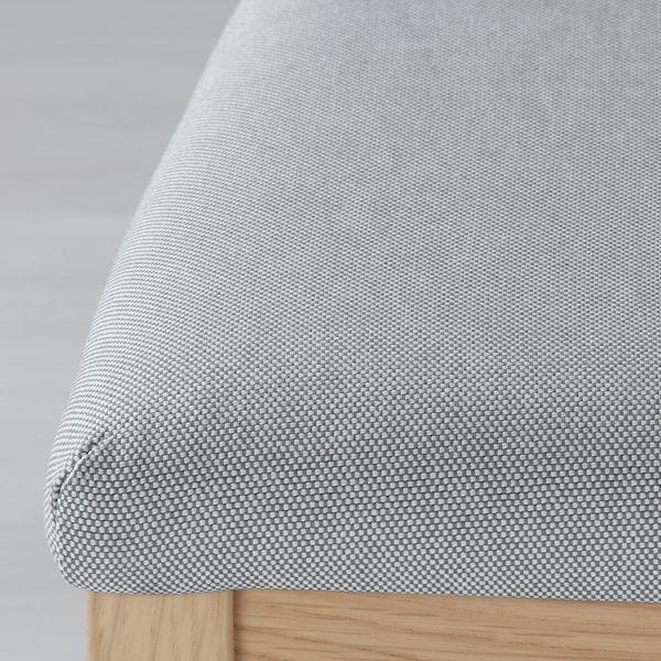 EKEDALEN Silla, roble/Orrsta gris claro