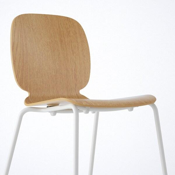 EKEDALEN / SVENBERTIL Mesa con 4 sillas, blanco/roble, 120/180 cm