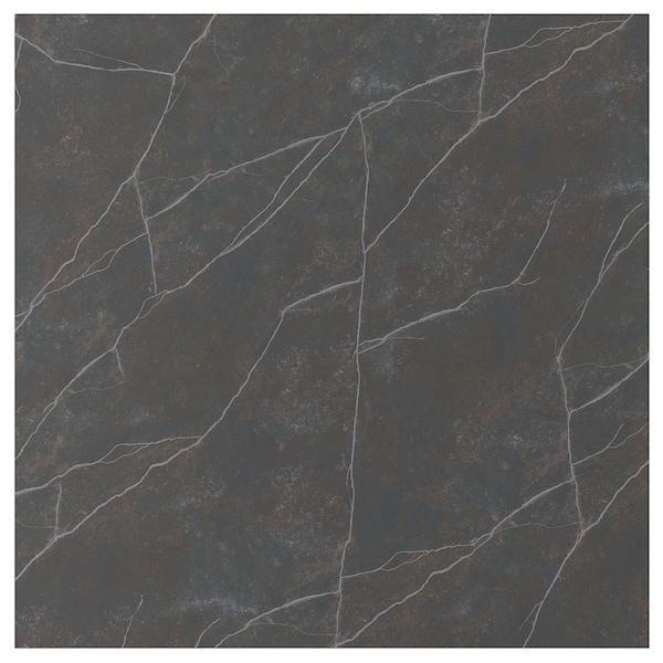 EKEKULL panel de pared negro/marrón mate/efecto mármol cerámica 5 cm 315 cm 5 cm 143.5 cm 1.2 cm 1.00 m²