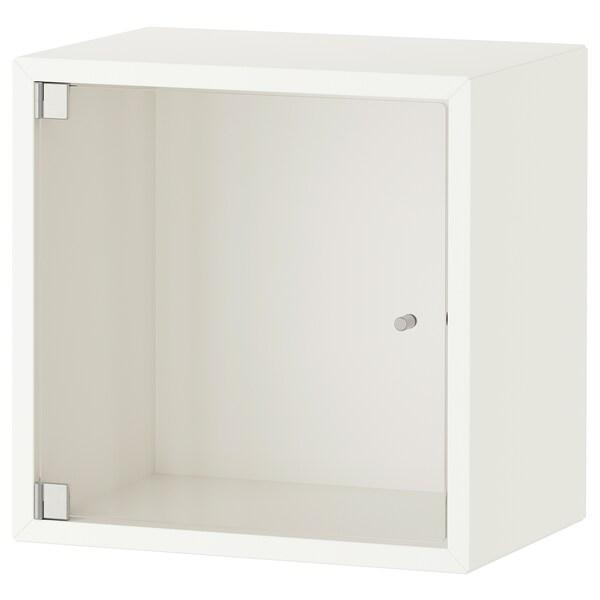 EKET Armario de pared con vitrina blanco IKEA