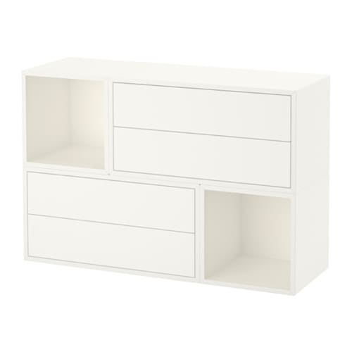 Eket combinaci n armario pared blanco ikea - Armario abierto ikea ...