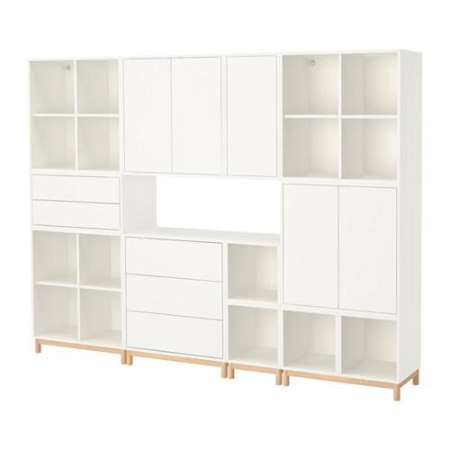 Armario Lavanderia Suspenso ~ EKET Combinación armario+patas blanco IKEA