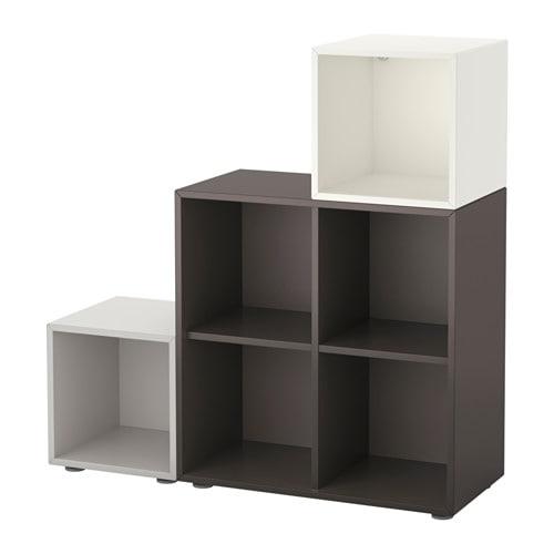 Eket combinaci n armario patas blanco gris oscuro gris - Ikea patas muebles ...