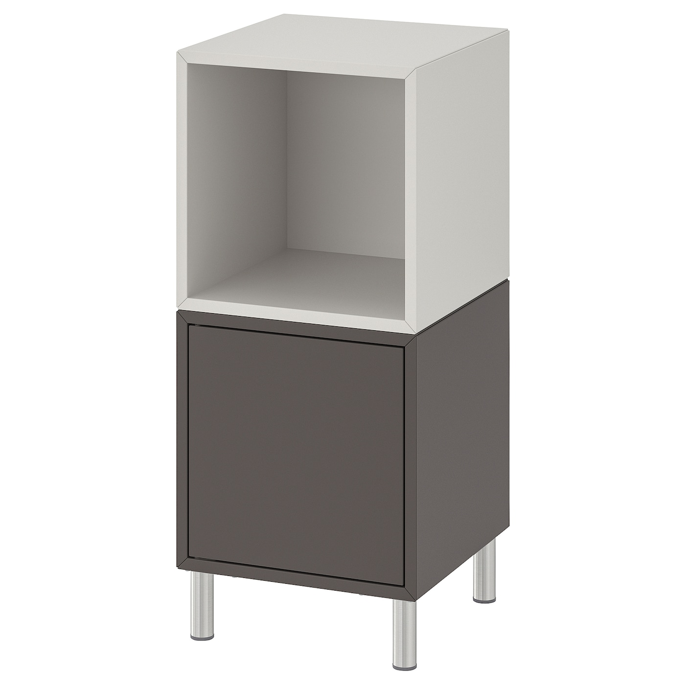 Combinaci�n armario+patas, gris oscuro/gris claro