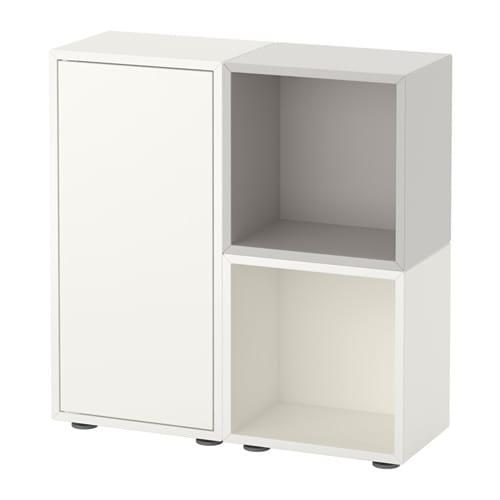 Eket combinaci n armario patas blanco gris ikea - Patas muebles ikea ...