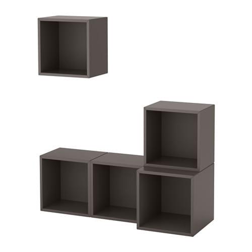 Eket estanter a de cubos gris oscuro ikea for Cubi da parete ikea