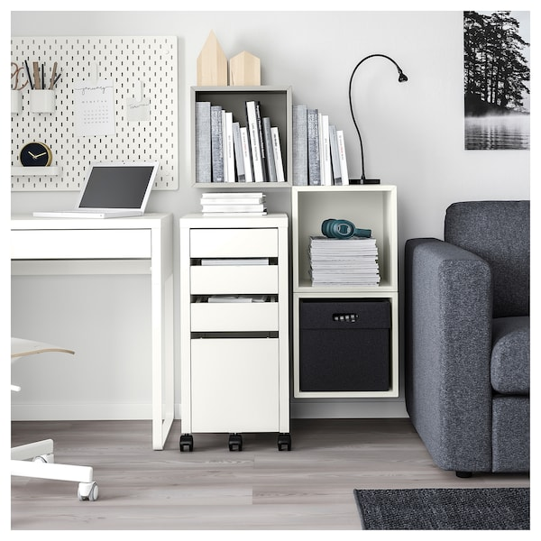 EKET Estantería de cubos gris claro/blanco 70 cm 105 cm 35 cm 70 cm