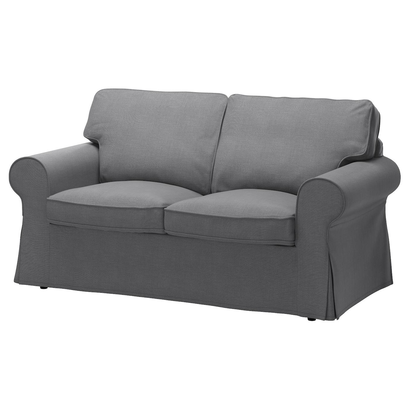 Ektorp Funda Para Sofá De 2 Plazas Nordvalla Gris Oscuro Ikea