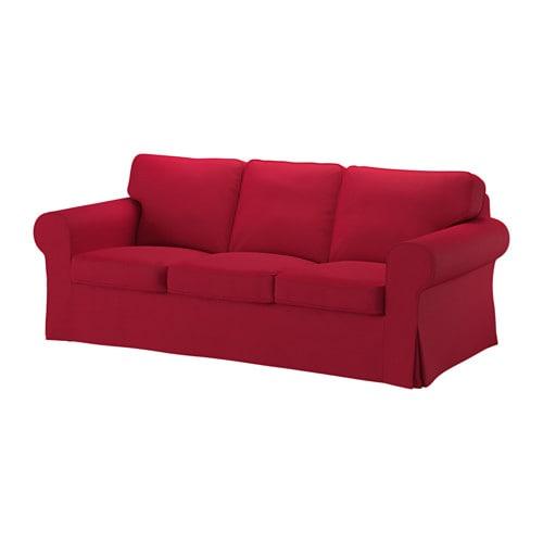 Ektorp funda para sof de 3 plazas nordvalla rojo ikea - Funda sofa 3 plazas ...