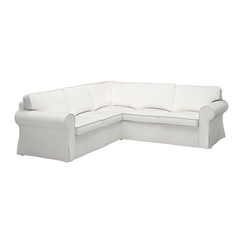 Ektorp sof esquina 2 2 vittaryd blanco ikea - Sofas en esquina ...