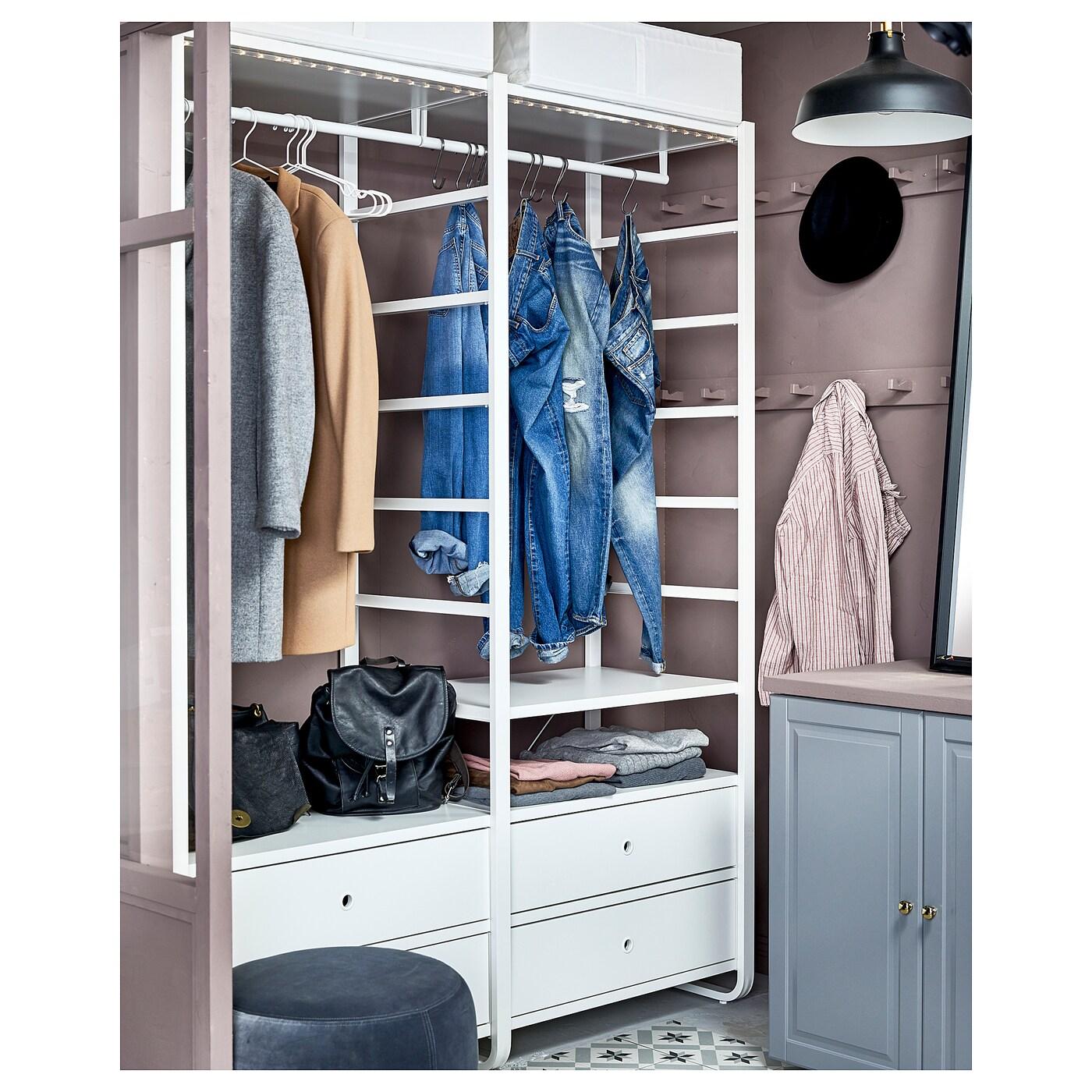 Elvarli 2 secciones blanco 165 x 55 x 216 cm ikea - Ikea cabina armadio planner ...