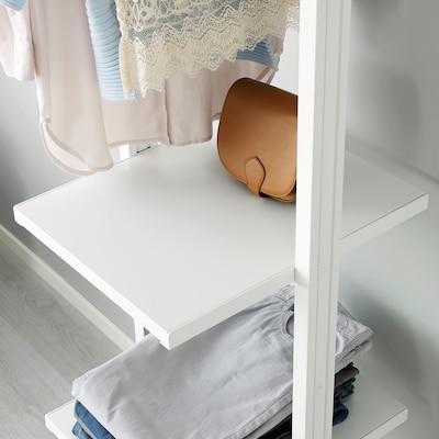 ELVARLI Soporte poste, blanco, 51 cm