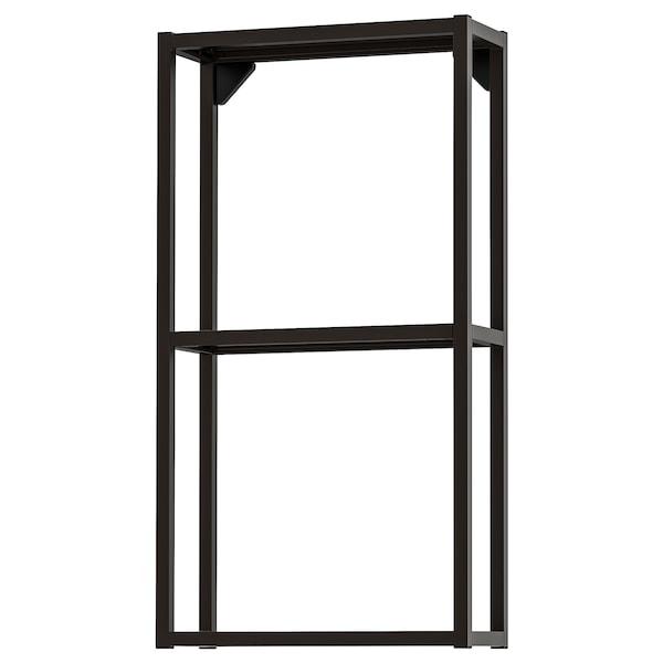 ENHET Estructura armario pared con baldas, antracita, 40x15x75 cm