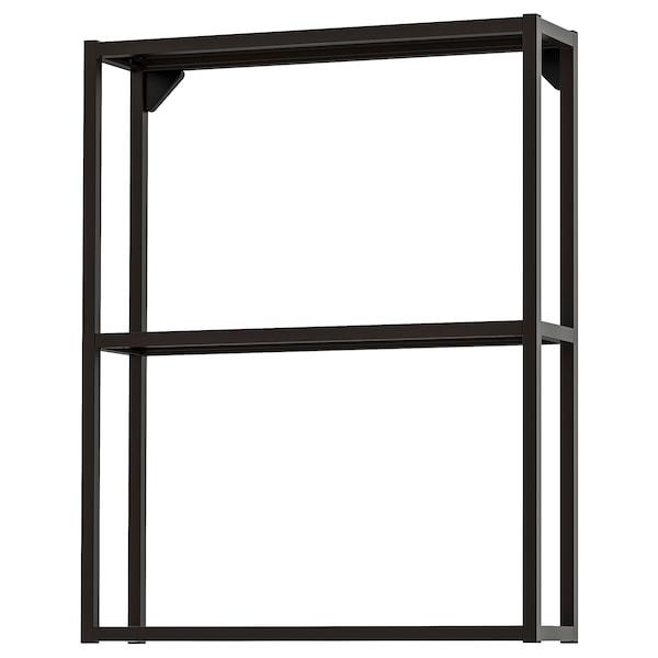 ENHET Estructura armario pared con baldas, antracita, 60x15x75 cm