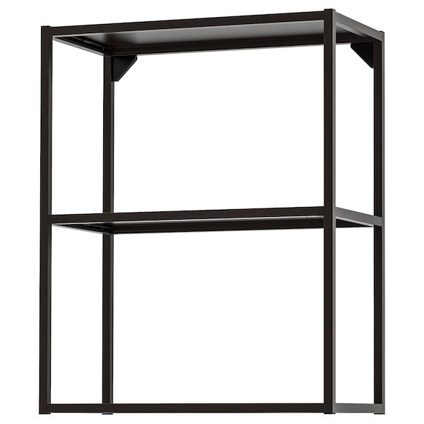 ENHET Estructura armario pared con baldas, antracita, 60x30x75 cm