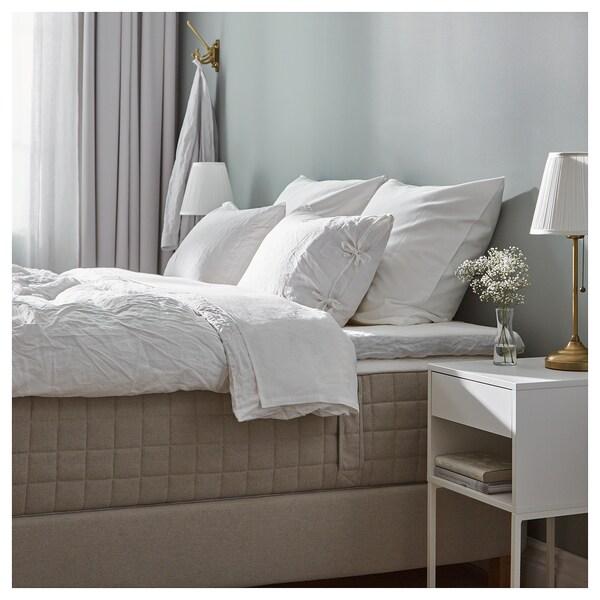 ESPEVÄR cama continental Hidrasund firme/Tistedal natural 200 cm 80 cm 200 cm 160 cm