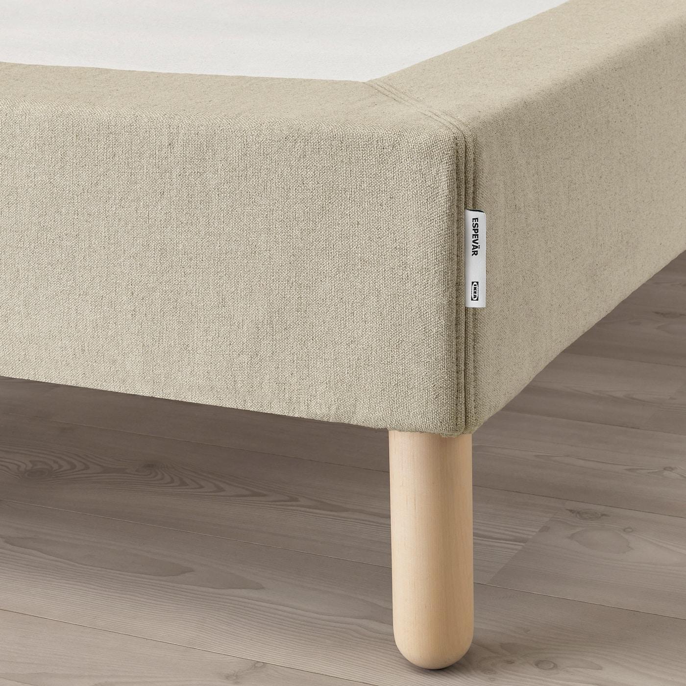 Wood Select Juego de 4/Patas de Madera de Cama Maciza Vernis Natural Altura 20/cm
