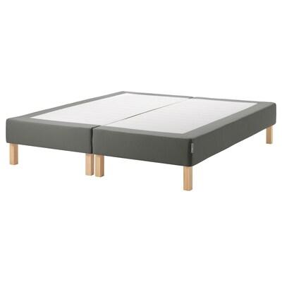 ESPEVÄR Somier de láminas + funda, gris oscuro, 160x200 cm