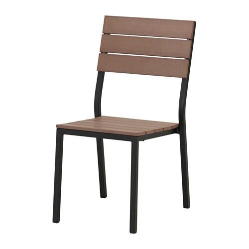 Falster silla ext negro marr n ikea - Sillas terraza ikea ...