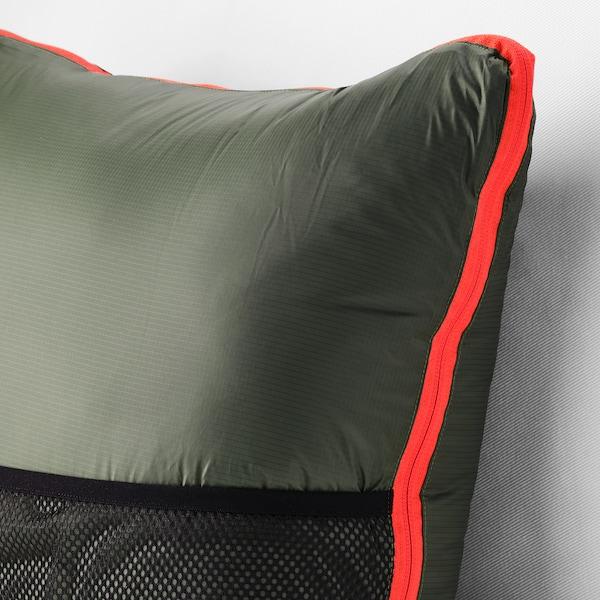 FÄLTMAL Cojín/manta, verde oscuro, 190x120 cm