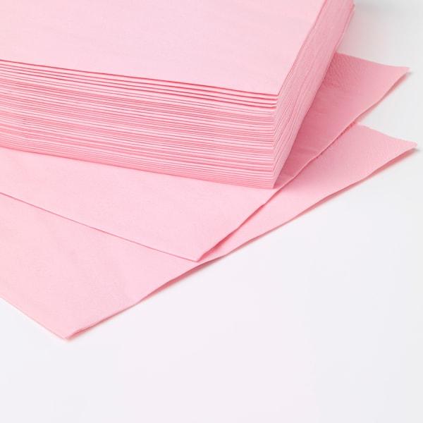 FANTASTISK Servilleta de papel, rosa claro, 40x40 cm