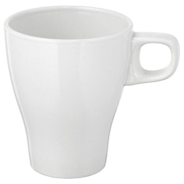 FÄRGRIK Tazón, gres blanco, 25 cl