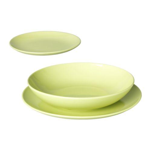 FÄRGRIK Vajilla 18 piezas, verde, gres - Últimas unidades en IKEA L'Hospitalet
