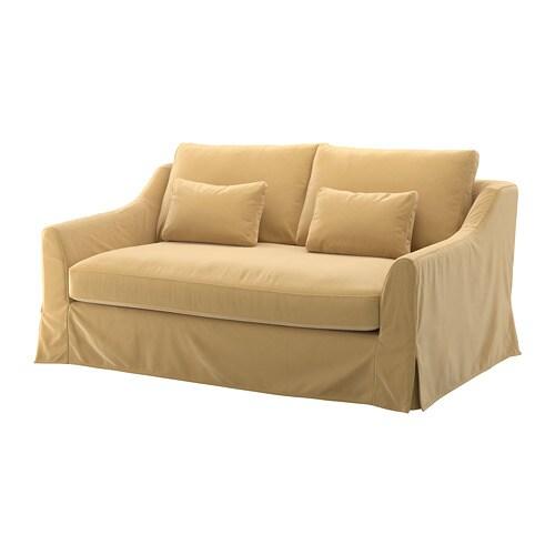 F rl v sof 2 plazas djuparp beige dorado ikea for Sofas ikea precios