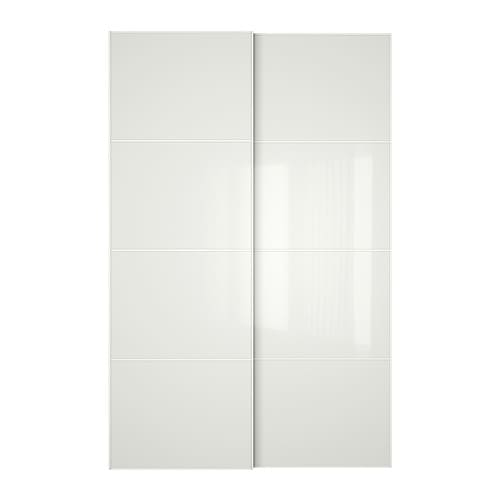F rvik puertas correderas 2 uds 150x236 cm ikea for Ikea puertas correderas