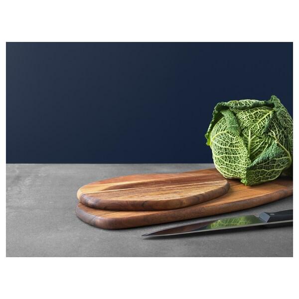 FASCINERA Tabla de cortar, madera de mango, 52x22 cm