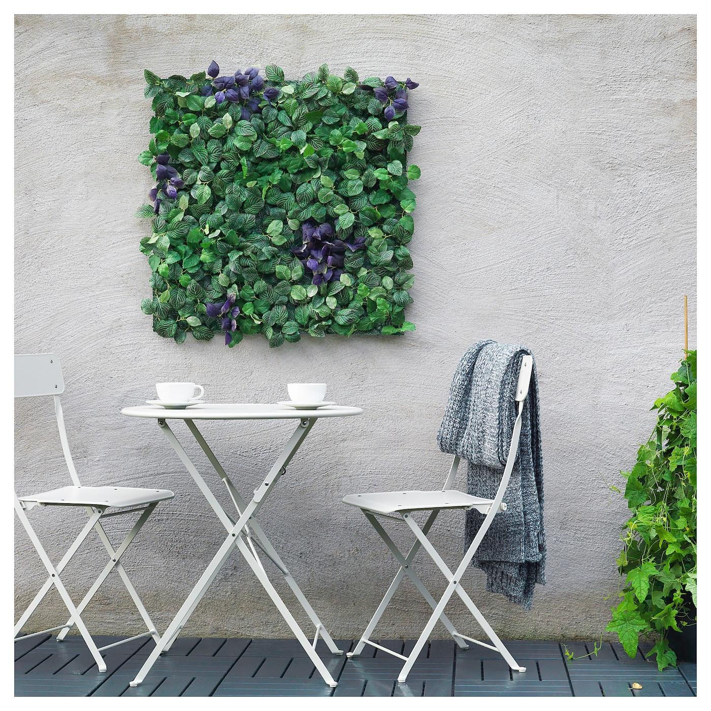 Fejka Planta Artificial De Montaje En Pared Int Ext Verde Violeta 26