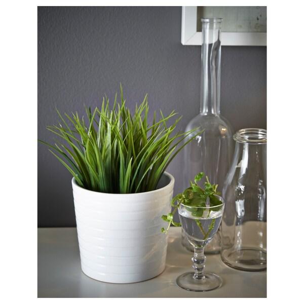 FEJKA Planta artificial, int/ext hierba, 9 cm