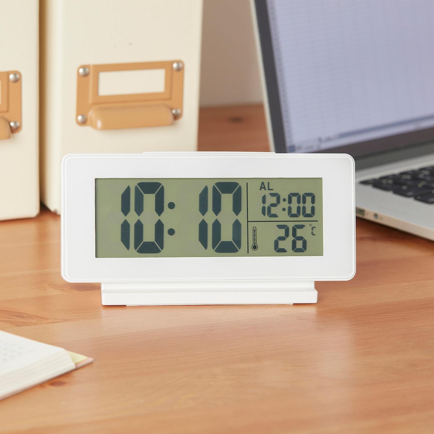 FILMIS Relojtermómetrodespertador blanco