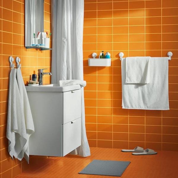 FINTSEN Alfombrilla de baño, gris, 40x60 cm